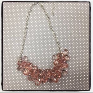 Light pink beaded cluster necklace